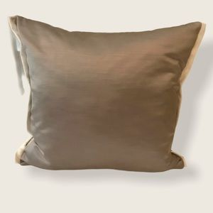 NWOT Designers Guild Two Tone Grey Pillow